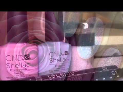 CND Shellac Ombre Nail Design