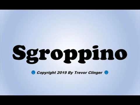 How To Pronounce Sgroppino - 동영상