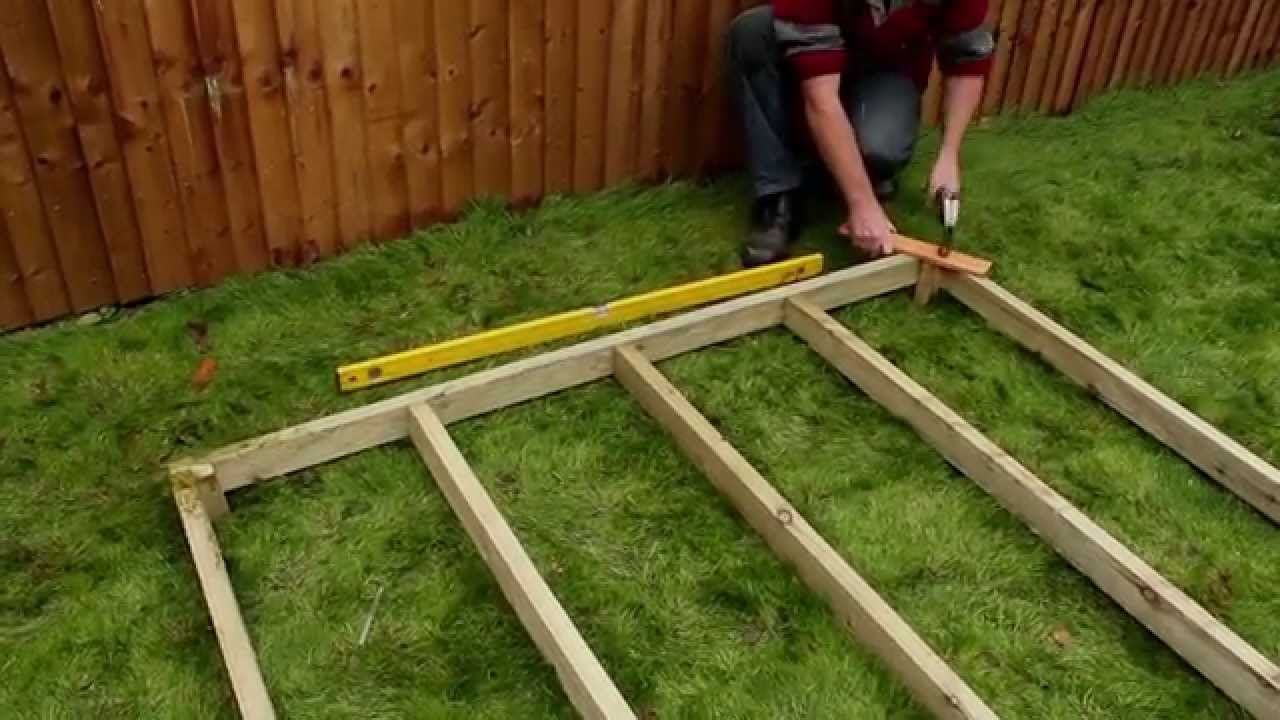 How To Assemble An Eze Shed Base Youtube