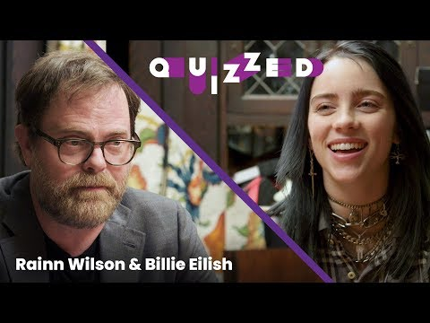 Billie Eilish gets QUIZZED by Rainn Wilson on The Office' | Billboard