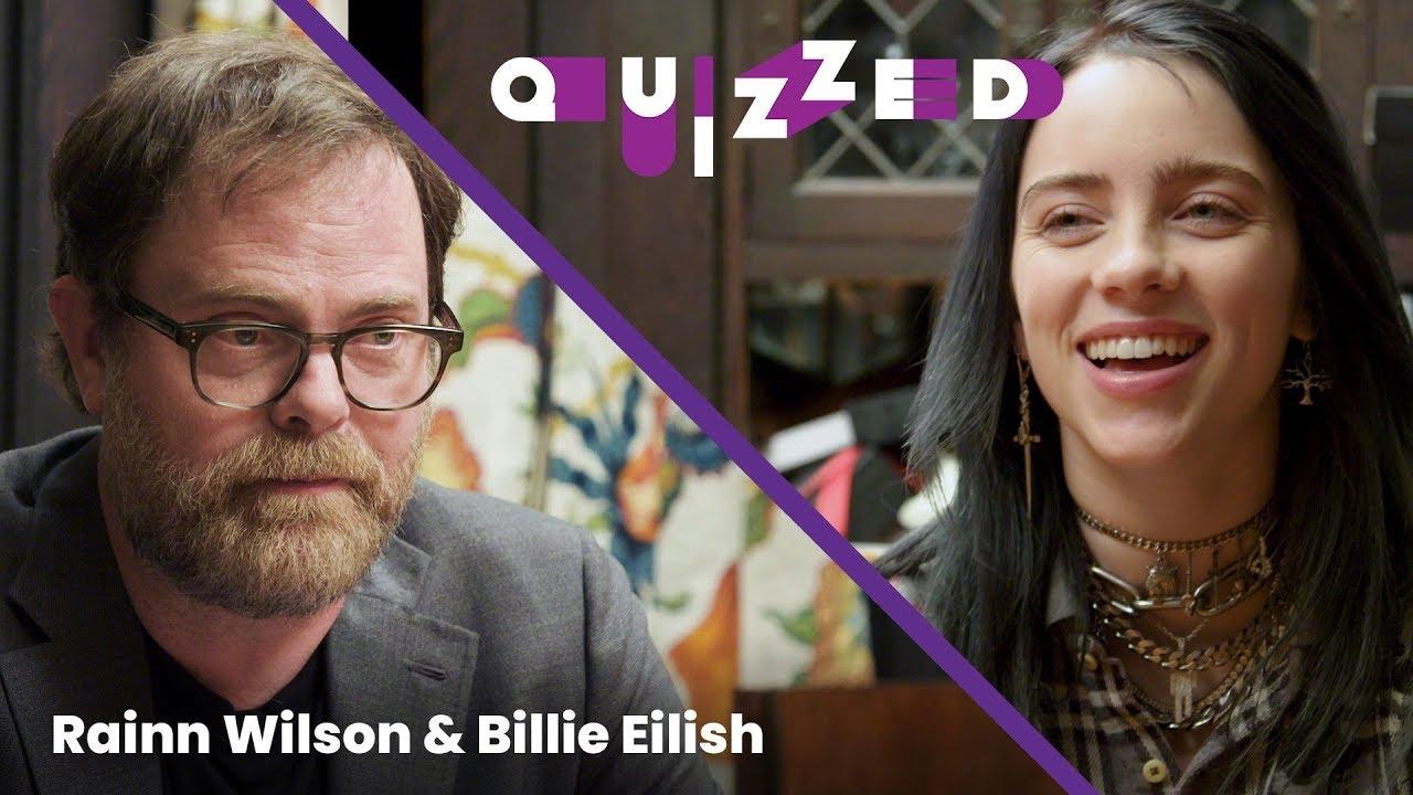 Billie Eilish gets QUIZZED by Rainn Wilson on 'The Office' | Billboard