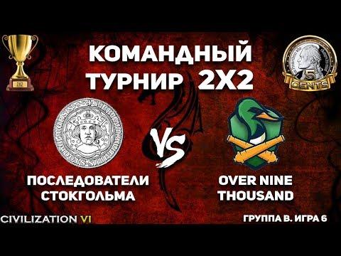 Командный турнир 2х2 Civilization VI. Группа B.  Последователи Стокгольма vs. over nine thousand