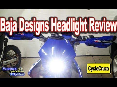 Baja Designs Squadron Headlight Review    2019 Yamaha YZ450FX SuperMoto