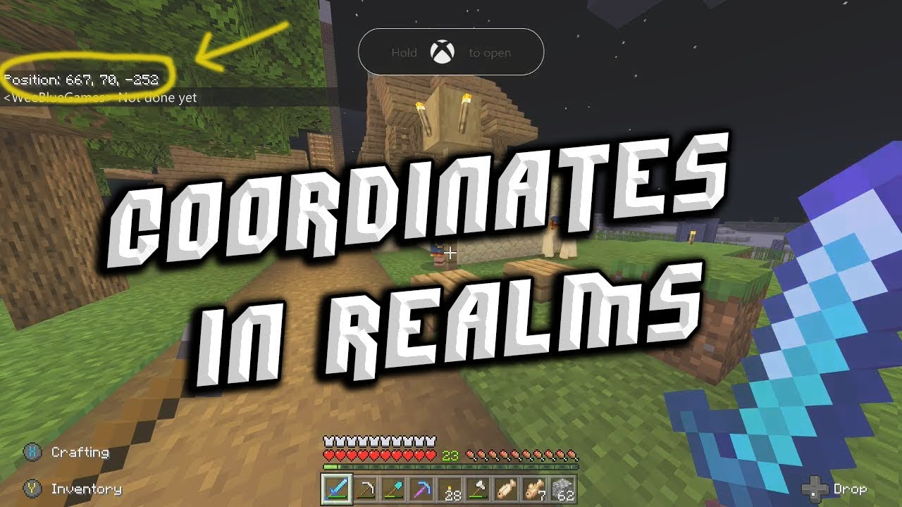 How To Turn Coordinates on in Bedrock / MCPE / Xbox / Switch - YouTube