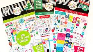 *New* Mini & Classic Happy Planner Christmas Stickerbook flipthru!