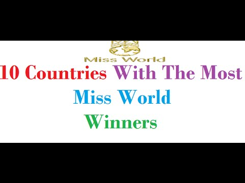 10 Countries With The Most Miss World Winners
