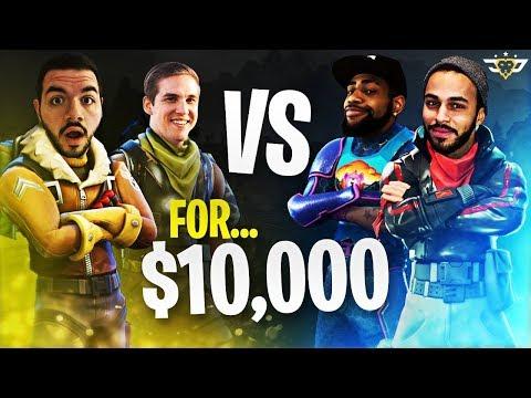 $10,000 Fortnite Tournament! TSM Daequan & Hamlinz vs OpTic CouRage & TeePee