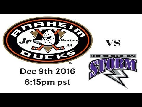 Jr Ducks vs Nevada Storm 12 10 16