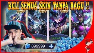 LENGKAP! BORONG SEMUA SKIN LEGENDS + EPIC KARINA !! Mobile Legends
