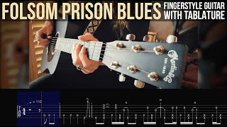 FOLSOM PRISON BLUES • Fingerstyle Guitar TABS • Johnny Cash Cover видео