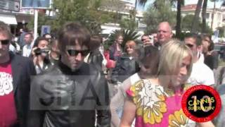 Oasis singer Liam Gallagher and Nicole Appleton in Cannes