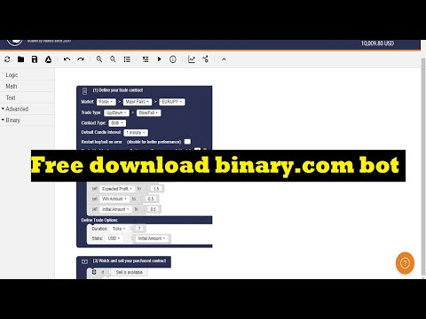 Free Download Binary.com Bot - Automatic Trading Software