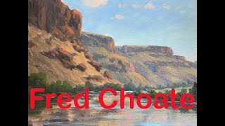 "Fred Choate Oil Painting ""Owyhee River"""