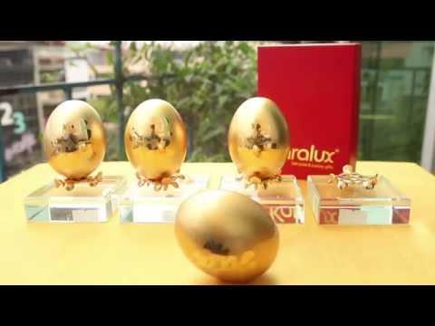 Trứng mạ Vàng 24K, quà tặng ngày cưới ý nghĩa và độc đáo
