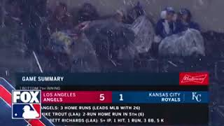 Just a little snow baseball in Kansas City for the