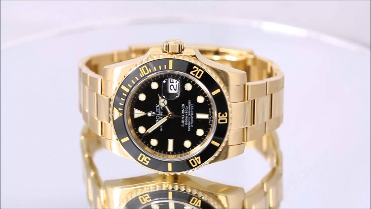 Rolex Men's Submariner 18k Solid Gold