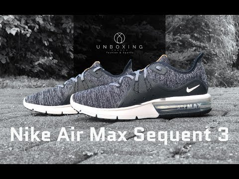 361b13caaf4 Nike Air Max Sequent 3 'Black/White-dark grey' | UNBOXING & ON FEET ...