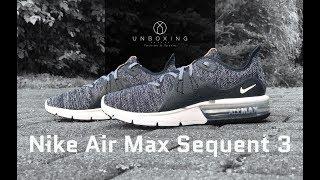 3513389a3e9e Nike Air Max Sequent 3  Black White-dark grey
