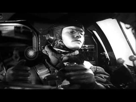 German propaganda film depicts Heinkel He 111 attack on British ships...HD Stock Footage