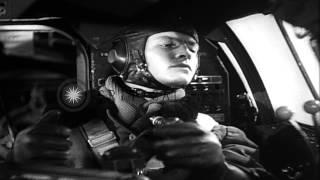 German propaganda film depicts Heinkel He 111 attack on British ships...HD Stock Footage