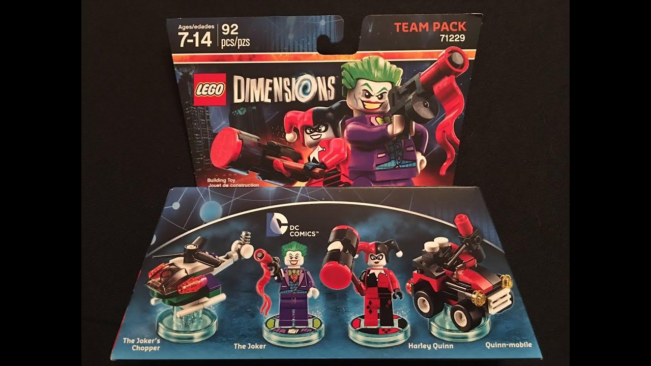 dc comics joker harley team pack lego dimensions. Black Bedroom Furniture Sets. Home Design Ideas