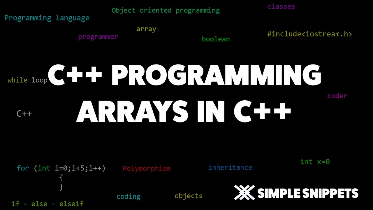 Arrays in C++ programming | C++ programming tutorials for beginners