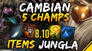 CAMBIAN los ITEMS de JUNGLA y 5 CAMPEONES - Parche 8.10 | Noticias League Of Legends LoL Jota