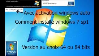 comment installer windows 7 sp1 sans activation de windows