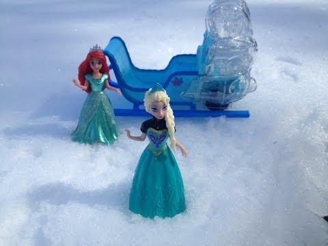 princess-ariel-snow-time-surprise-a-toy-parody
