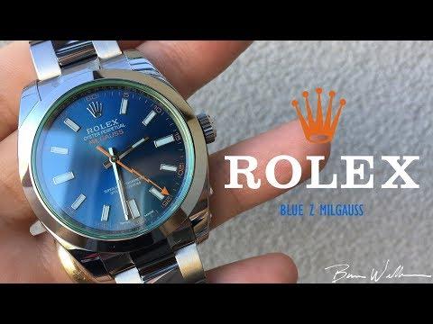 Rolex Blue Z Milgauss 116400GV