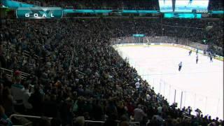 Torrey Mitchell goal. St. Louis Blues vs San Jose Sharks 3 Mar 2012. NHL Hockey