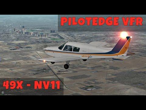 49X - NV11 VFR VFlyteAir Cherokee PA28 [X-Plane, Pilotedge]