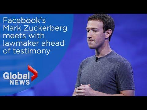Mark Zuckerberg meets with U.S. lawmaker ahead of Congressional testimony