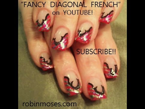 Nail art design pink french with foil fancy outline diy nail art design pink french with foil fancy outline diy nails youtube prinsesfo Image collections