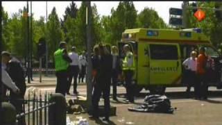 Groot ongeluk tijdens optocht Koningin Apeldoorn 30 april 2009