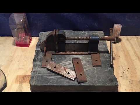 HOW TO MAKE A DRILL PRESS VISE CLAMP FROM SCRAP METAL DIY