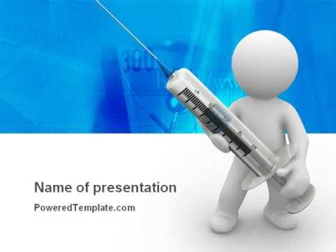 Stickman With Syringe PowerPoint Template by PoweredTemplate