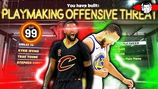 THE BEST POINT GUARD BUILD IN NBA 2K20 - 10 HOF BADGE KYRIE IRVING AND STEPHEN CURRY BUILD
