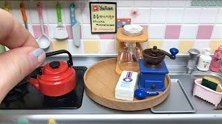 Miniature cooking,Marshmallow&Drip Coffee | 리멘트 미니어처 요리,마쉬멜로&드립커피 | ミニチュア 料理