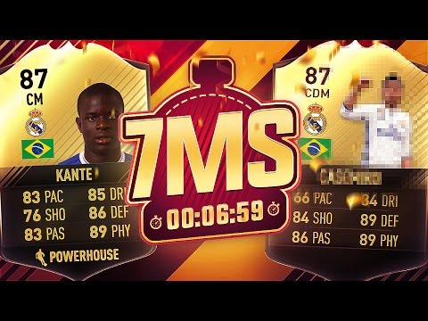 THE BRAZILIAN KANTE! 7 MINUTE SQUAD BUILDER!! - FIFA 17 ULTIMATE TEAM