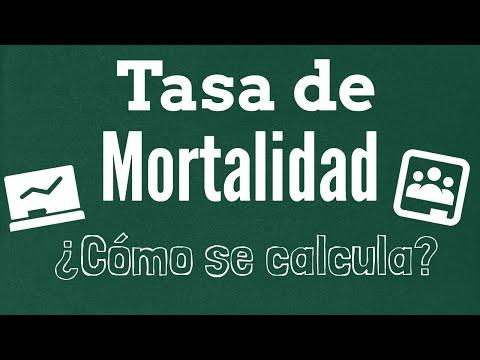 Cómo calcular una tasa cruda de mortalidad (crude mortality rate)