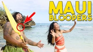You re Welcome Bloopers! Maui and Moana Behind the Scenes in real life with Working with Lemons