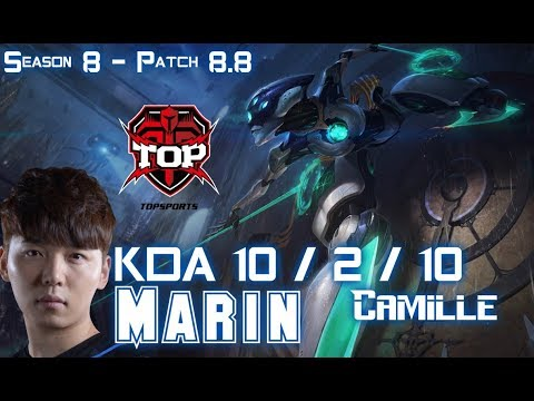 TOP MaRin CAMILLE vs IRELIA Top - Patch 8.8 KR Ranked