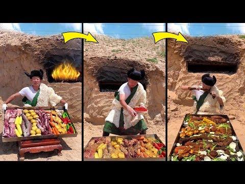 Girl DIY! FUNNY COOKING LIFE HACKS WITH Mixed grill   Fun DIY Food Tricks & CRAZY COOKING HACKS