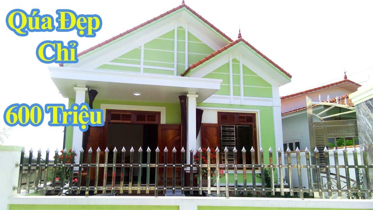 Mẫu Nhà Cấp 4 Mái Thái Đẹp Giá Rẻ Được Ưa Chuộng Nhất Hiện Nay
