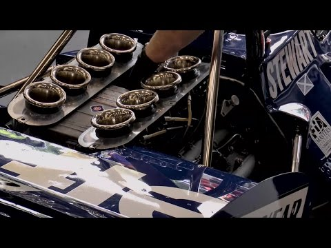 1970 Tyrrell 001 Cosworth F1 car, V8 engine warmup/race at Spa/Zandvoort!