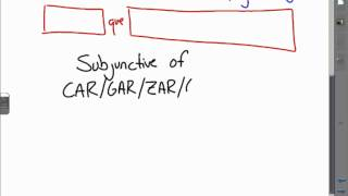 May10 CAR GAR ZAR GER GUIR subjunctive verbs