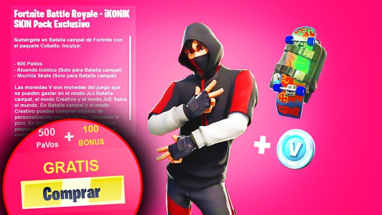 Como Conseguir Skin Ikonik Gratis Desbloquear Pack Exclusivo Fortnite Youtube