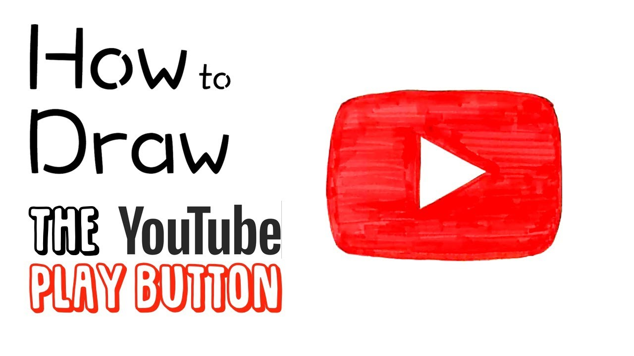 How To Draw The Youtube Play Button Youtube