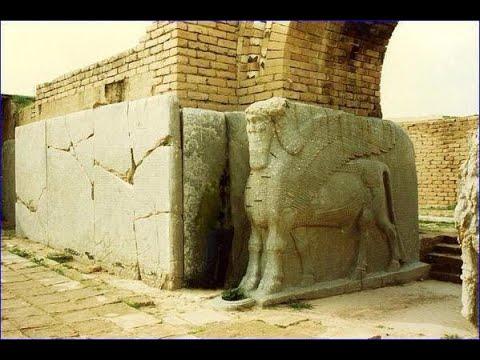 Раскопки  руин дворцов и городов ,древней Ассирии